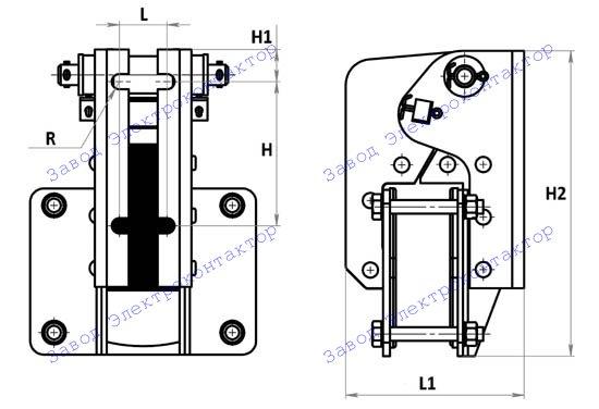 Внешний вид, габаритные и установочные размеры магнита МО-100